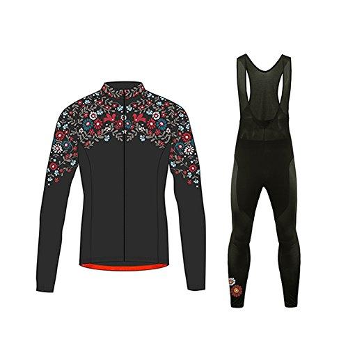 UGLYFROG #01 Damen Radsport Winter Fleece Trikots Lange Ärmel+ Lange Hosen Anzüge Sport & Freizeit Clothes (Hosen Fox Reiten)