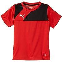 Puma Esquadra - Camiseta deportiva para niño (manga corta) rojo rojo y negro Talla:128