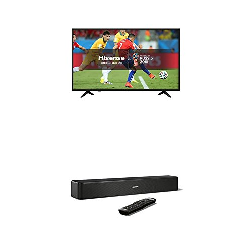 Hisense H65A6200UK 65 Inch 4K Ultra HD Smart TV with Freeview Play (2018 Model) and Bose Solo 5 TV Soundbar System, Black