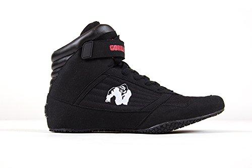 Gorilla Wear Bodybuilding scarpe alte cime nero e rosso Nero