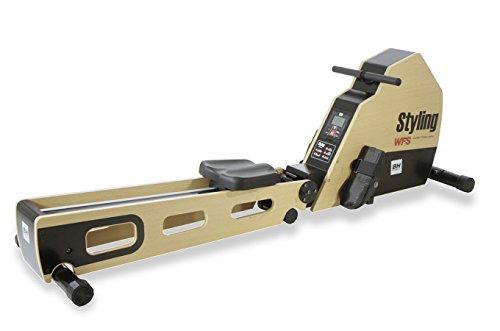 BH Fitness STYLING R320 klappbares Rudergerät Rudermaschine - zentraler Seilzug - übersichtlicher Bildschirm - 6 vordefinierte Profile - Magnetisches Bremssystem