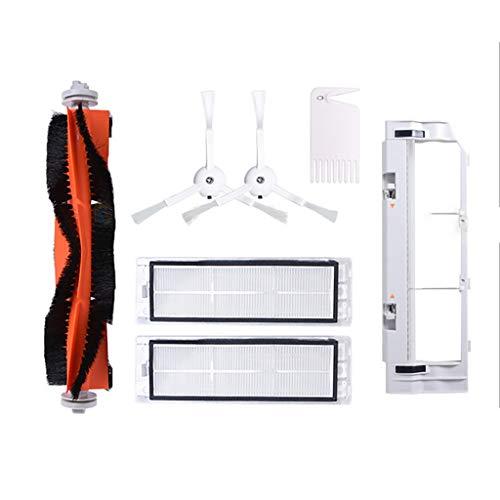 Serie Vii Filter (HappySDH Premium XiaoMi Zubehör Saugroboter 7 Stück,1 Ersatz-Hauptbürste,2 Seitenbürste + 2 Filter + 1 Hauptbürstenabdeckung + 1Reinigungsbürste,Ersatz für XiaoMi/RoboRock Vacuum Cleaner (Weiß))