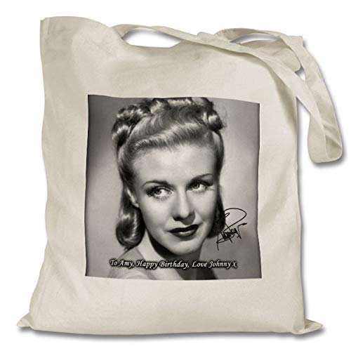 Star Prints UK Ginger Rogers 1 Personalised Printed Tote Bag - Shopping - Shoulder - Tote Bag - Autographed Print (with Personalised Message)