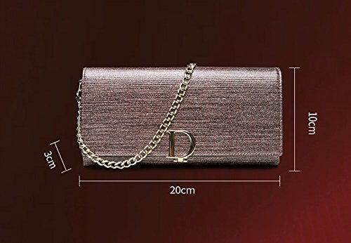 Handbeutel, Art und Weisetendenzlederfaltblattbeutel, Bankett personifiziertes Abendpaket ( Farbe : Gold color ) Pink