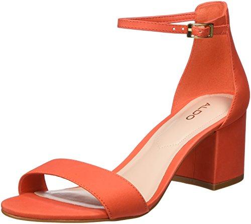 ALDO Damen Villarosa Peeptoe Sandalen, Orange (Tangerine Tango), 37 EU