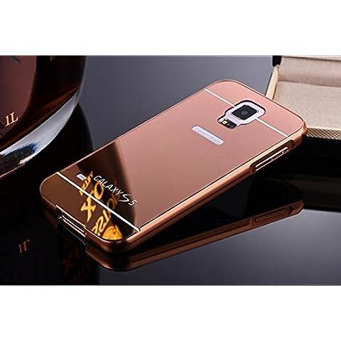 S7protettiva ¨, lle ll JB Ultra Sottile Lusso in alluminio specchio PC Back Cover Protettiva ¨ ¹ Custodia Cover per Samsung Galaxy S7oro, METALLO, Pink, Samsung Galaxy S7