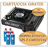 CUCINA A GAS @@@ DOPPIO ATTACCO @@ GPL BUTANO CAMPEGGIO