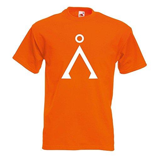 KIWISTAR - Stargate T-Shirt in 15 verschiedenen Farben - Herren Funshirt bedruckt Design Sprüche Spruch Motive Oberteil Baumwolle Print Größe S M L XL XXL Orange
