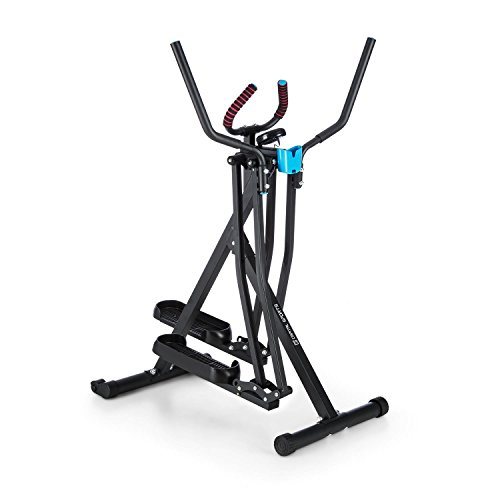 CAPITAL SPORTS Crosswalker Crosstrainer Heimtrainer (vertikale + horizontale Schwingbewegung, Trainingscomputer, Schaumstoffpolsterung, Getränkehalterung, klappbar) schwarz