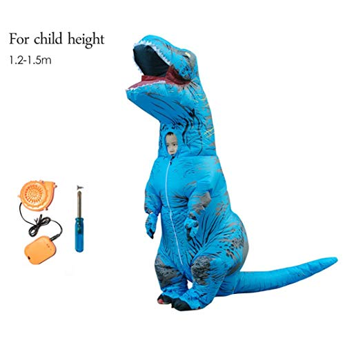 About Beauty Aufblasbare Dinosaurier T Rex Kostüm Jurassic World Park Blowup Dinosaurier Cosplay Aufblasbare Kostüm Party-Kostüm Für Erwachsene Kinder,Child