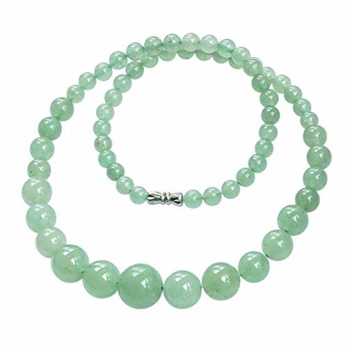 MesBijouxBracelets Perlenketten Naturstein -Schmuck Jade Damen Grün Klar Perle wz-C0317