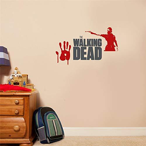 Wandaufkleber Kinderzimmer Wandtattoo Wohnzimmer Der Walking Dead Zombies-Aufkleber für Zimmer-Hauptschlafzimmer-Auto für Wohnzimmer