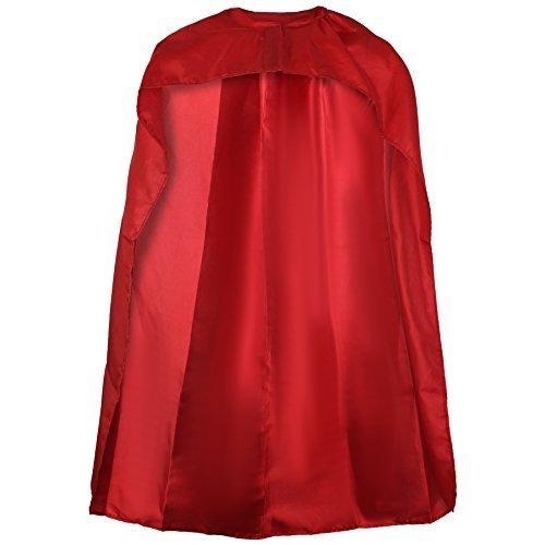 Kostüme Rot M&m Erwachsene (Sofias Closet, Superheldenkostüm in Blau und Rot, Umhang für Erwachsene und Kinder, Superman, Wonderwoman,)