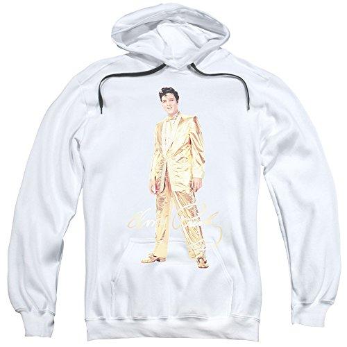 Elvis Presley - - Herren Gold Lame Anzug Kapuzenpulli, XXX-Large, ()