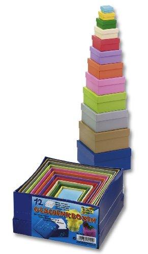 GLOREX 6 2027 102 Geschenkboxen, Qualität eckig, Pappe, mehrfarbig, 14 x 14 x 7.5 cm