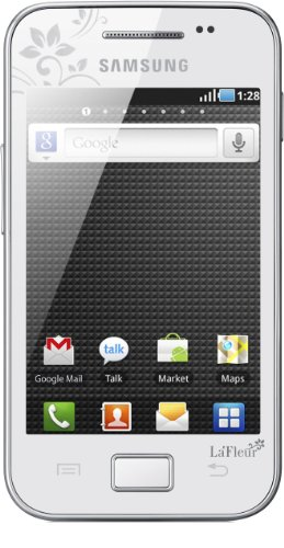 Samsung Mobile Samsung Galaxy Ace S5830i La Fleur Smartphone (8,9 cm (3,5 Zoll) Display, Touchscreen, Android 2.2, 5 Megapixel Kamera) pure-white - La Fleur