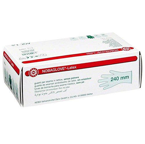 Nobaglove - Latex Untersuchungshandschuhe - Größe L (puderfrei) - Länge 240 mm┇100 Stück