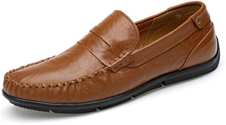 CAI Herren Loafers  Slip Ons 2018 Vier Jahreszeiten Leder Freizeitschuhe Peas Schuhe Große Größe Mens Driving