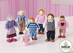 KidKraft Doll Family of 7 Caucasian, Multi Color