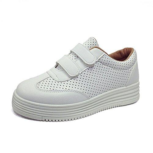 Wealsex Sneaker damen Klassische Low Top plateau schuhe Weiß YL