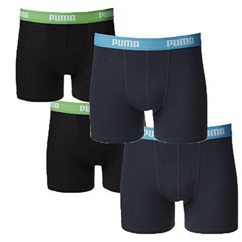 Puma Junior Boys Boxershort Basic Boys Boxer 4er Pack, Grösse:164, Farbe:India Ink/Turquoise