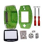Timorn parti completa sostituzione Housing Shell Pack per Game Boy Advance (Verde Trasparente)