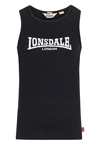 Lonsdale Muskelshirt Rib Singlet Galaxy Slimfit-T-shirt Uomo Nero (schwarz)