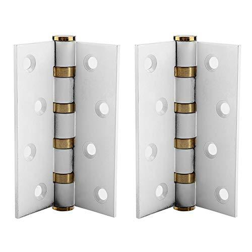 FTVOGUE Cerniere per Porte in Acciaio Inox Silenziatore silenziatore Buffer Cerniere per Cuscinetti silenziosi per Porte in Legno Spesso 4in 3mm