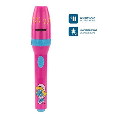 DIE SCHLÜMPFE Kinder-Taschenlampe / Projektionslampe Projektionsleuchte Mädchen pink - Lampe mit Projektor for girls - bestätigte Kindersicherheit von ANSMANN - 3