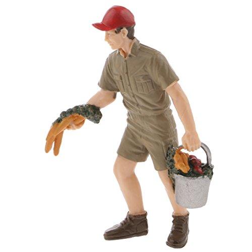 Spielfiguren - Bauer Figuren Modell Für Zuhause Dekoration, Kinder Geschichten Erzählen Geschenke - Männliche Rancher, 8.5cm