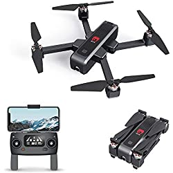 EACHINE EX3 Drone 4k GPS, Drone Profesional con Camara 4k, Drone Brushless Motor, Drone GPS 5G, WiFi FPV Drone Tiempo Real, Flujo Óptico OLED Conmutable Remoto Drone Plegable Drone RC Quadcopter RTF