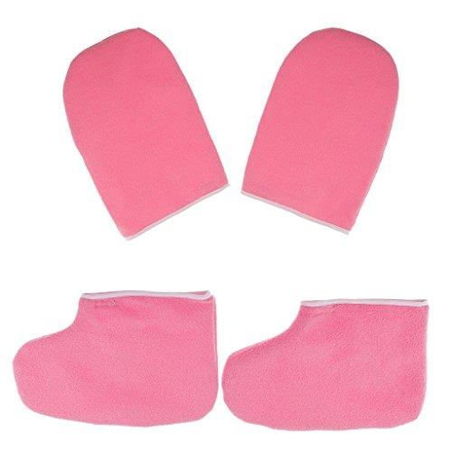 Backbayia Set Handschuhe und Socken Feuchtigkeitsspendende für Füße Hände Paraffinwachs Spa Hautpflege Fußpflege