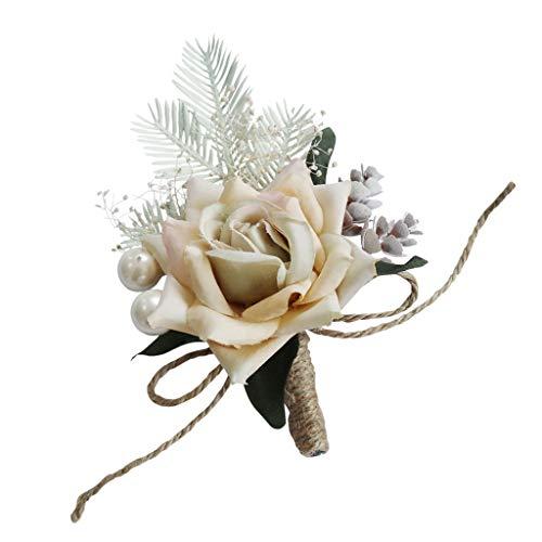 perfeclan Braut und Bräutigam Hochzeitsanstecker Gästeanstecker Blumen Handgelenk für Abendkleid...