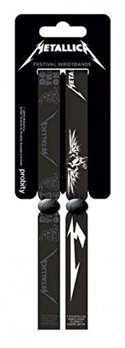 Preisvergleich Produktbild 1art1 95822 Metallica - Black Armband 10 x 2 cm