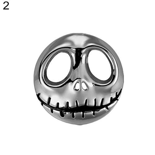 Yiwencult Clearance Deals! Kürbis-Autoaufkleber aus Metall, Motorrad-Zubehör, Halloween-Design Silber