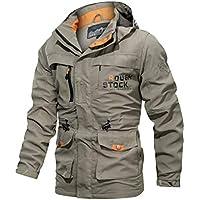 Men's Waterproof Jacket Casual Autumn Winter Long Sleeve Hooded Zipper (XS)