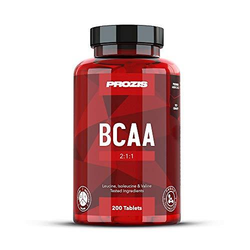 Prozis BCAA 2000 200 Tabs - 2:1:1 Leucine, Isoleucine, Valine - Fördert die Wiederherstellung und Muskelentwicklung - 50 Portionen