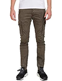 Red Bridge Herren Rocky Jogg-Denim Cargo Khaki