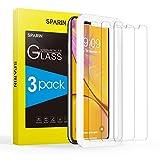 Sparin iPhone XS Max Schutzfolie, Displayschutzfolie Panzerglas iPhone XS Max mit [9H Härte] [Anti-Kratzen] [Blasenfrei] [2.5D Rand] [HD Klar] [3 Stück]