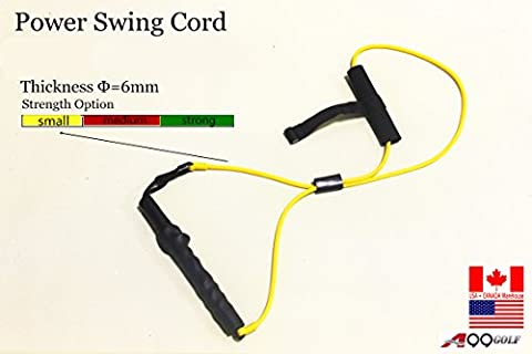 A99 Golf Power Flex Trainer swing training Resistance band for right handed golfer (Small Resistance)