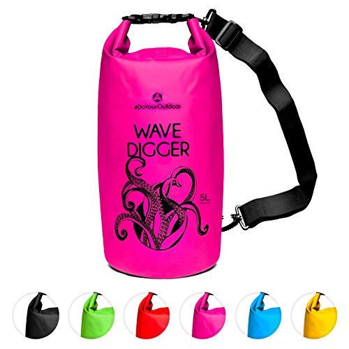 Dry Bag 2Liter 5Liter 10Liter 20Liter 30Liter & 40Liter Wasserdichte Trockentasche Seesack Survival Bag Trockensack - für Kajak Kanu Segeln Angeln Schwimmen Strand Bootfahren Camping Krake 5L pink