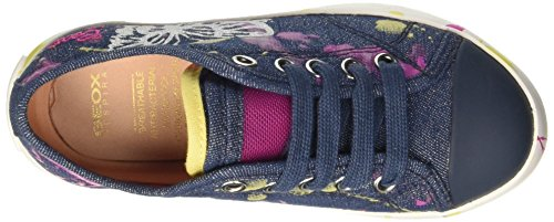 Geox Mädchen Jr Ciak Girl D Low-Top Blau (DENIMC4008)