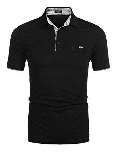 Zeela Herren Business Polo Shirt Freizeithemd Kurzarm T-Shirt mit Knopf Brusttasche Größe S-XXL