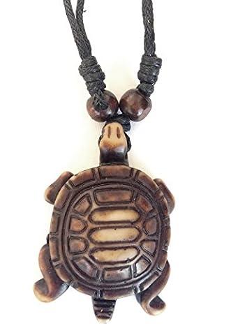 trtrg2–Halskette mit Anhänger Schildkröte aus Kunstharz Effekt Farbverlauf Idee Geschenk