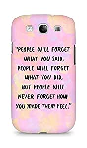 AMEZ people will forget what you said did Back Cover For Samsung Galaxy S3 Neo