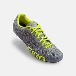 Giro Empire E70 Knit Road, Zapatos de Ciclismo de Carretera para Hombre, (Grey Heather/Highlight 000), 41 EU