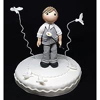 Bambino/Ragazzo prima comunione ((Cake topper - top torta - statuina torta o regalo PERSONALIZZABILE)