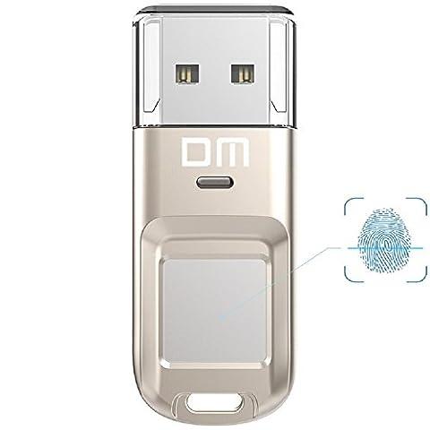 farsler 32GB 64GB Highspeed Anerkennung Fingerabdruck verschlüsselte Speicherung Pen Drive Dual Sicherheit Memory USB Stick silber New 32G silver (Encrypted Disk-)