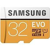 Samsung EVO - Tarjeta de memoria microSD de 32 GB, Clase 10, UHS-I, con adaptador SD