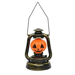 AIU Halloween Petroleumlampe tragbares Nachtlicht Tischlampe mit Scary Geräuschen für Karneval Party Dekoration (Kürbis)